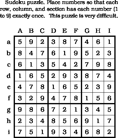 Solution To Sudoku Puzzle Of The Day